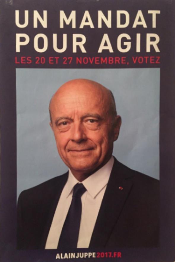 Alain Juppé, une affiche de campagne «retour vers le passé»