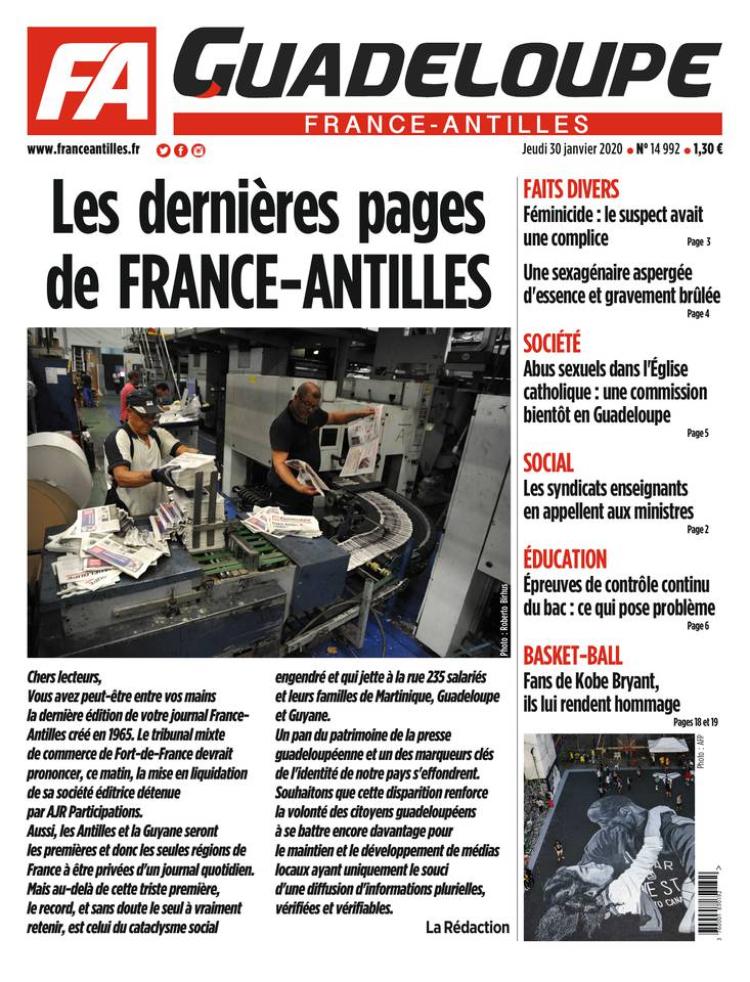 Derniere Une France Antilles