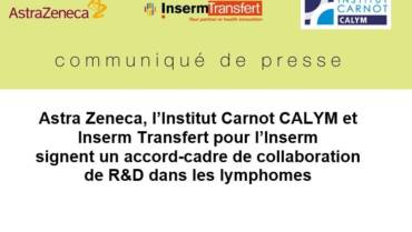 AstraZeneca, l'Institut Carnot CALYM et Inserm Transfert contre les lymphomes